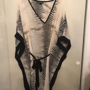 Club collection Cover up kimono style 2xl zebra!!!